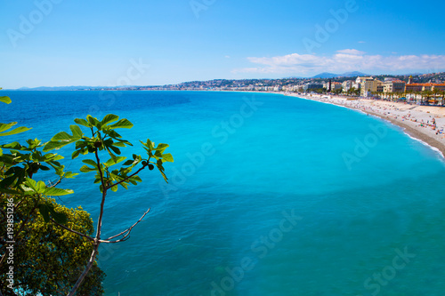 Платно Nice, French Riviera, Cote d'Azur or Coast of Azure.