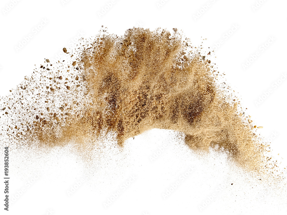 Fototapety, obrazy: Dry river sand explosion