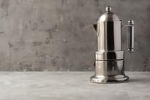 Metal Italian Moka Coffee Pot....