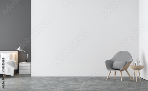 Tremendous Minimal Style Living Room And Bedroom 3D Rendering Image Alphanode Cool Chair Designs And Ideas Alphanodeonline