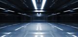 Fototapeta Do przedpokoju - Abstract dark tunnel perspective 3d