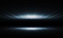 Abstract Dark Shining Digital Interior 3 D