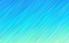 Aqua Blue Gradient Stripes Vector Background. Ocean Blue To Turquoise Diagonal Lines Texture. Sea Horizon Fade Backdrop. Hatching Strokes Surface.