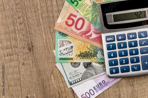 American Dollars European Euro Swiss Franc Canadian Dollar Australian Bills