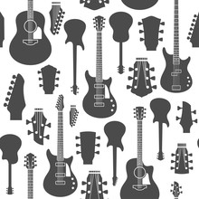Vector Guitars Seamless Pattern Or Background
