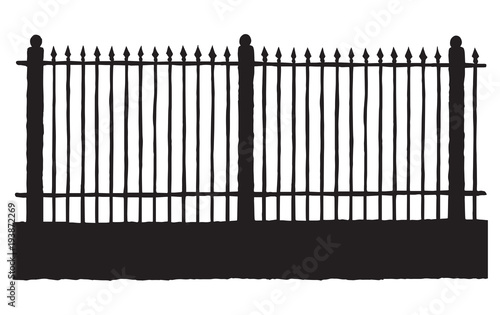 Wall Murals For Kids Fence. Vector drawing