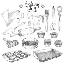 Set Of Dishes For Baking. Baki...