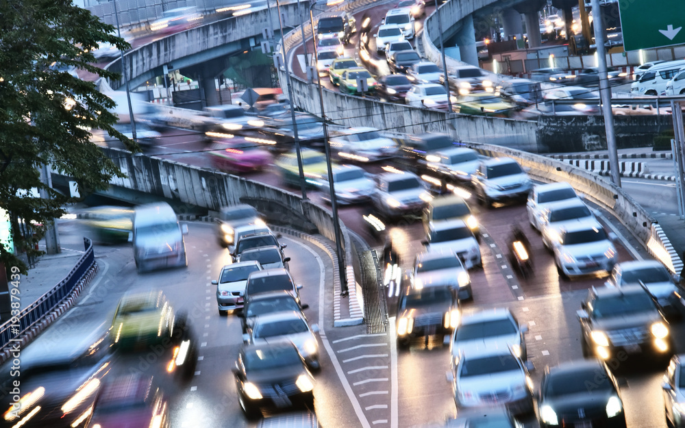 Fototapety, obrazy: Controlled-access highway in Bangkok during rush hour