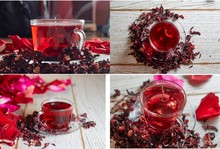Red Hot Hibiscus Tea In A Glas...