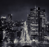 Fototapeta Miasto - Noc nad rondem ONZ