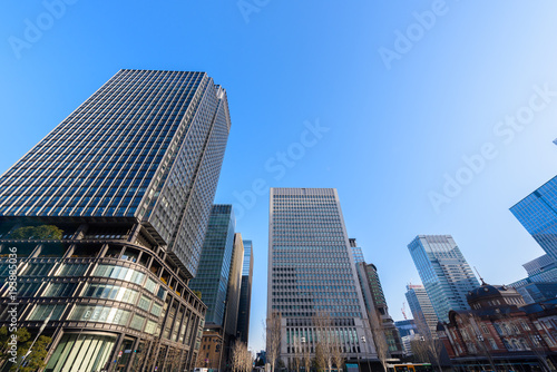 東京都心の高層ビル