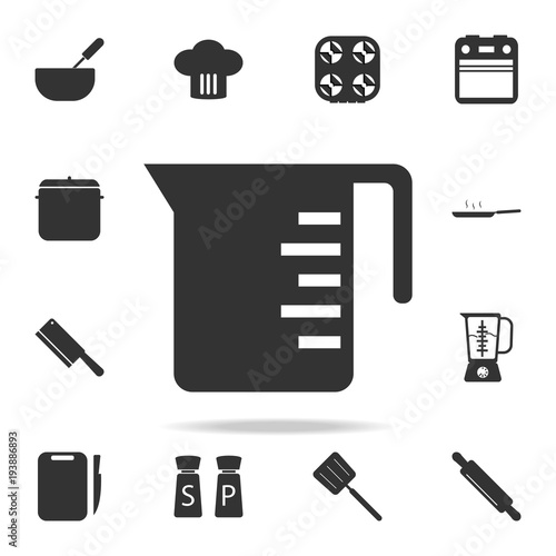 Measuring Cup Icon Set Of Chef And Kitchen Element Icons Premium