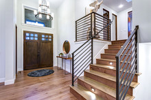 Chic Entrance Foyer With High ...