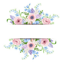 Vector Banner With Pink, Blue ...