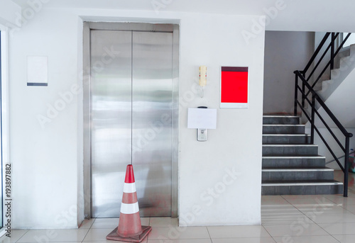 Fotografie, Tablou  Elevator was broken. Please use the stairs.