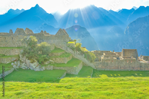 Recess Fitting China Stunning sunrise in Machu Picchu, South America