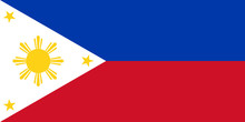 Flag Of Republic Of Philippines In Peacetime, Vector.