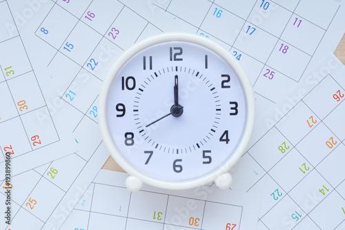 Obraz 時計 カレンダー     - fototapety do salonu