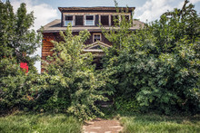 Fire Damaged Abandoned House O...