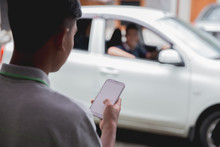 Customer Ordering Taxi Via Onl...