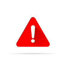 Alert Icon On White Background