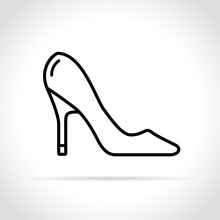 High Heels Icon On White Background
