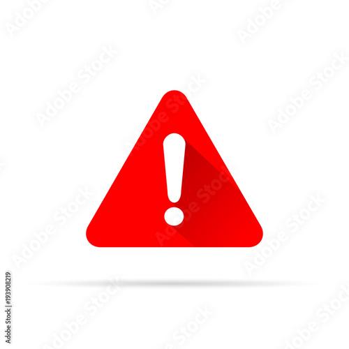 Photo  alert icon on white background