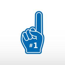 Foam Finger. Number 1, Blue Gl...