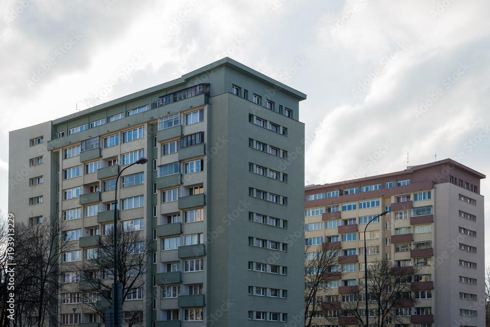 Fototapeta bloki mieszkalne