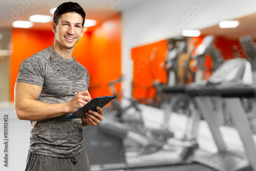 Fotografie, Tablou strong personal trainer