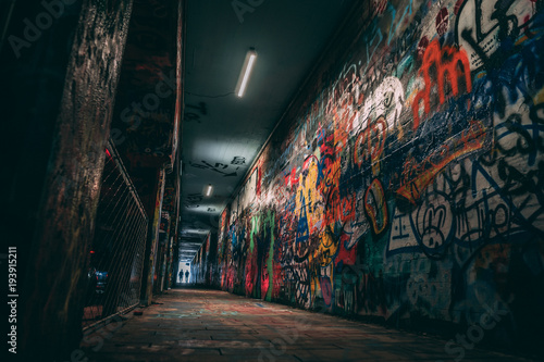Wall Murals Narrow alley KROG STREET TUNNEL