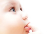 canvas print picture - profile of a little baby