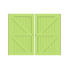 Farmer's Barn Green Doors