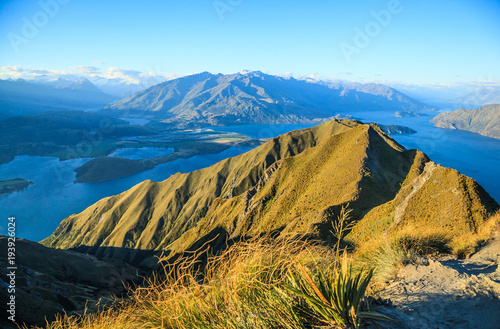 Canvas Prints Honey Breathtaking, Stunning Landscape View from Roys Peak on Lake Wanaka at twilight, South Island, New Zealand.