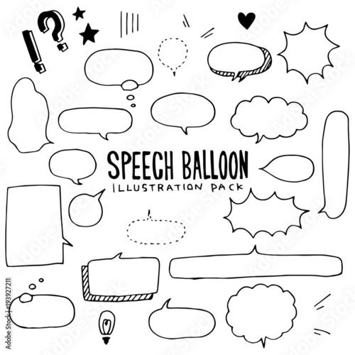 Fotografie, Obraz  Speech Balloon Illustration Pack