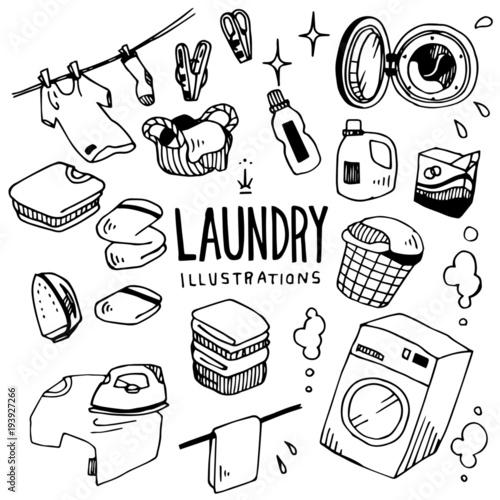 Obraz Laundry Illustration Pack - fototapety do salonu