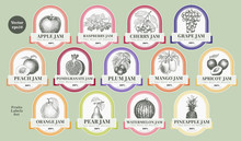 Berry And Fruit Labels Set. Vi...