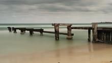 The Old Mentone Beach Jetty In Melbourne, Australia