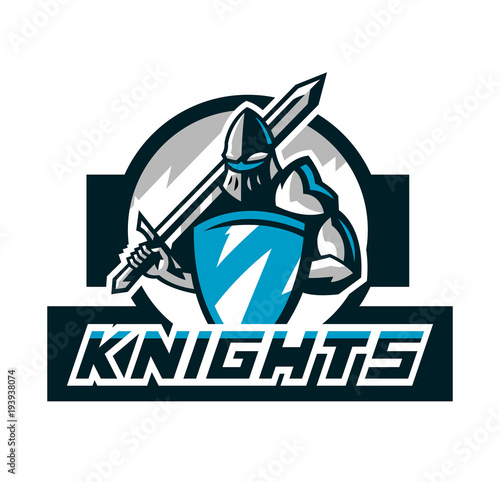 Colorful Logo Knight S Emblem In Iron Armor A Warrior Of The