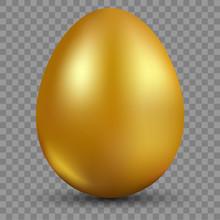 Golden Egg Isolated On Translu...