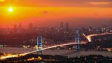Istanbul Turkey Bosphorus Bridge at Sunset