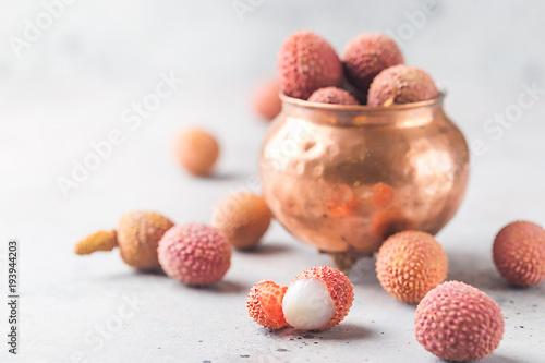 Fresh lychee fruits