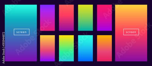 Fototapeta Soft color background on dark. Modern screen vector design for mobile app. Soft color abstract gradients. obraz