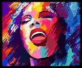 Piosenkarz jazzowy na tle grunge - 193945696
