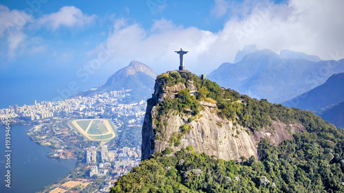 Recess Fitting Brazil Aerial view of Rio de Janeiro city skyline in Brazil