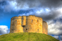York UK Clifford`s Tower Touri...