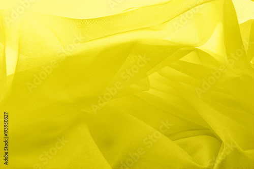 Fototapety, obrazy: texture background, tulle yellow. Solid nylon tulle oil. With a simple screensaver in your design, create a couture appearance that refers to the softness of spring.