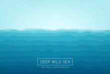 Sea Waves Background. Blue Abs...
