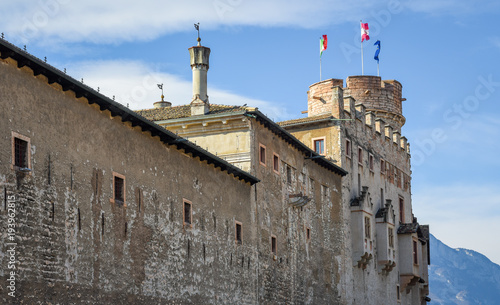 Fotografie, Obraz  The majestic Castle of Buonconsiglio at the heart of the city of Trento towers i
