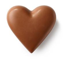 Milk Chocolate Heart On White ...